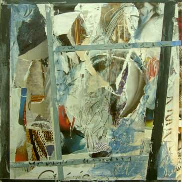 Kalenderblatt, abstrakt,Collage, acryl,